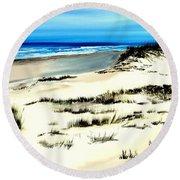Outer Banks Sand Dunes Beach Ocean Round Beach Towel