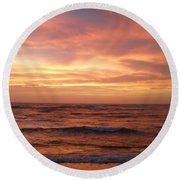 Outer Banks Sunset - Buxton - Hatteras Island Round Beach Towel