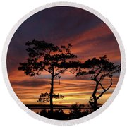Outer Banks Sunset Round Beach Towel