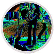 Outlaws #16 Art Psychedelic Round Beach Towel