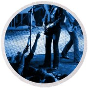 Outlaws #16 Blue Round Beach Towel