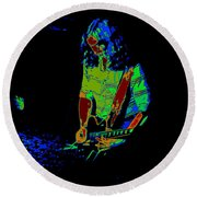 Outlaws #22 Art Psychedelic Round Beach Towel