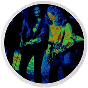 Outlaws #25 Crop 2 Art Psychedelic Round Beach Towel