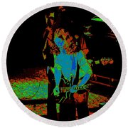 Outlaws #27 Art Psychedelic Round Beach Towel