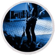 Outlaws #29 In Blue Round Beach Towel