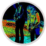Outlaws #31 Crop 2 Art Psychedelic Round Beach Towel