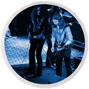Outlaws #32 Crop 2 Blue Round Beach Towel