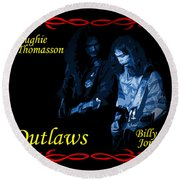Outlaws Billy Jones And Hughie Thomasson Round Beach Towel