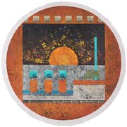 Outpost 1 Round Beach Towel