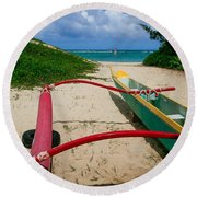 Outrigger Beach Round Beach Towel