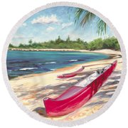 Outrigger - Haleiwa Round Beach Towel