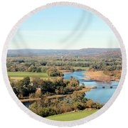 Outside City Limits Round Beach Towel