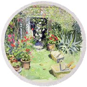 Outside Looking In, 1991 Wc On Paper Round Beach Towel