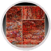 Outside The Box - Abstract Art Round Beach Towel