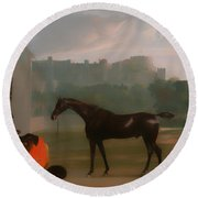 Outside The Guardhouse At Windsor Round Beach Towel