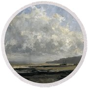 Outskirts Of Trouville Round Beach Towel