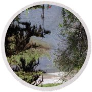Outta The Woods Round Beach Towel