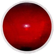Oval Red Abstract Round Beach Towel