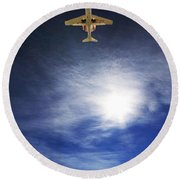 Over Round Beach Towel
