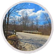 Over The Brook Round Beach Towel