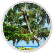 Over The Hedges Round Beach Towel