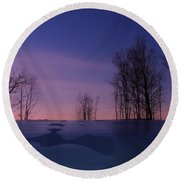 Over The Hill Round Beach Towel