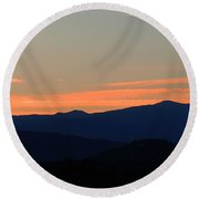 Over The Hills And Far Away Round Beach Towel