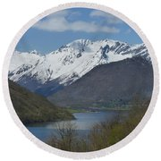 Over The Hjorundfjord Round Beach Towel