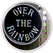 Over The Rainbow Round Beach Towel