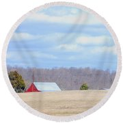 Over The Rise - Kentucky Round Beach Towel