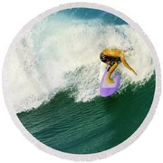 Over The Top Round Beach Towel by Laura Fasulo