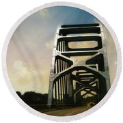 Over Troubled Water Round Beach Towel