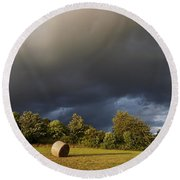 Overcast - Before Rain Round Beach Towel
