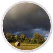 Overcast - Before Rain Round Beach Towel by Michal Boubin