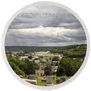 Overlooking Boyertown Round Beach Towel