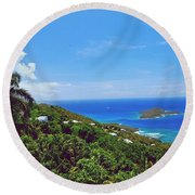 Overlooking Paradise Round Beach Towel