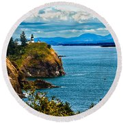Overlooking Round Beach Towel by Robert Bales