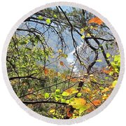 Overlooking The Gorge Round Beach Towel