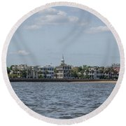 Overlooking The Sea Round Beach Towel