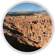 Overview At Bryce Canyon Round Beach Towel