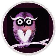 Owl 3 Round Beach Towel