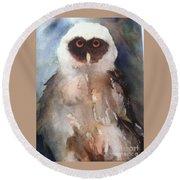 Owl Round Beach Towel by Sherry Harradence