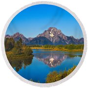 Oxbow Bend II Round Beach Towel