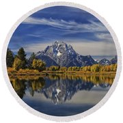 Oxbow Reflections Round Beach Towel