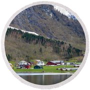Oye Norway Round Beach Towel