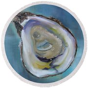 Oyster On The Half Shell Round Beach Towel