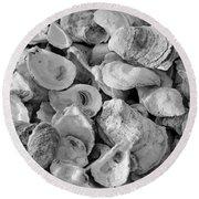 Oyster Shells Round Beach Towel