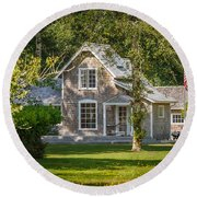Oysterville House 7 Round Beach Towel