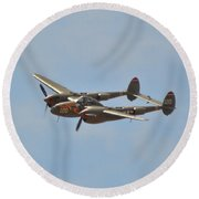 P-38l Lighting - Thoughts Of Midnight 2 Round Beach Towel