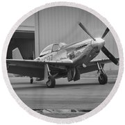 P-51d Spam Can Round Beach Towel